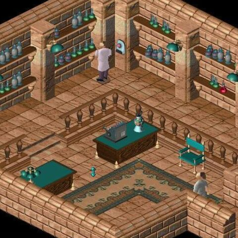 The interior of the pharmacy in LBA