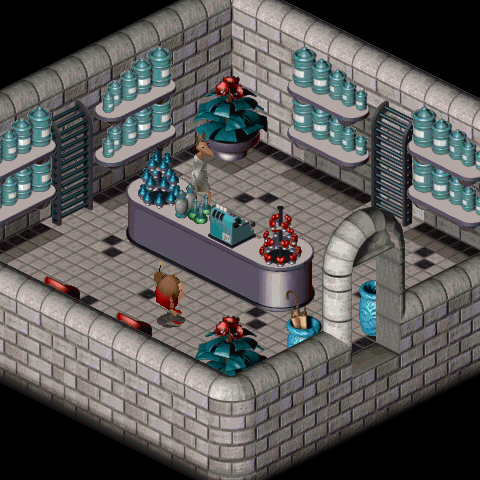 The interior of the pharmacy in LBA2
