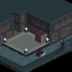 Secret passage under the men's steam room