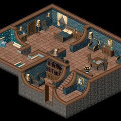The interior of the house in LBA2