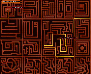 Maze B map (by psiwolf)