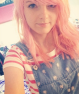 Lizzie with Pink hair