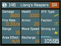 Liang's Reapers SR Lv1 Back