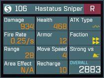 Hastatus Sniper R Lv1 Back