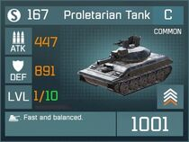Proletarian Tank C Lv1 Front