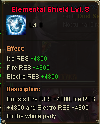 Elemental Shield Lv 8