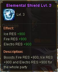 Elemental Shield Lv 3