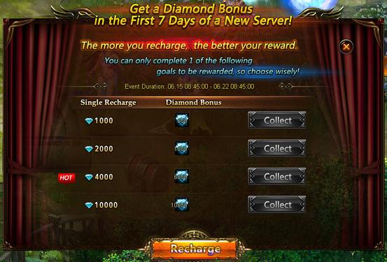 Get Diamonds Bonus