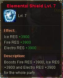Elemental Shield Lv 7