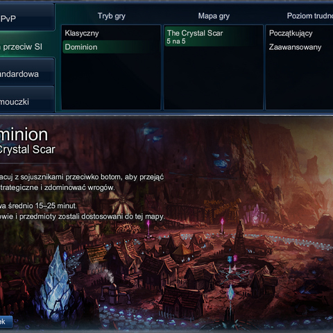 Wybór Dominiona w grze Razem przeciw SI