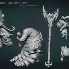 Dragon Trainer Lulu Model 1 (by Riot Artist <a href=