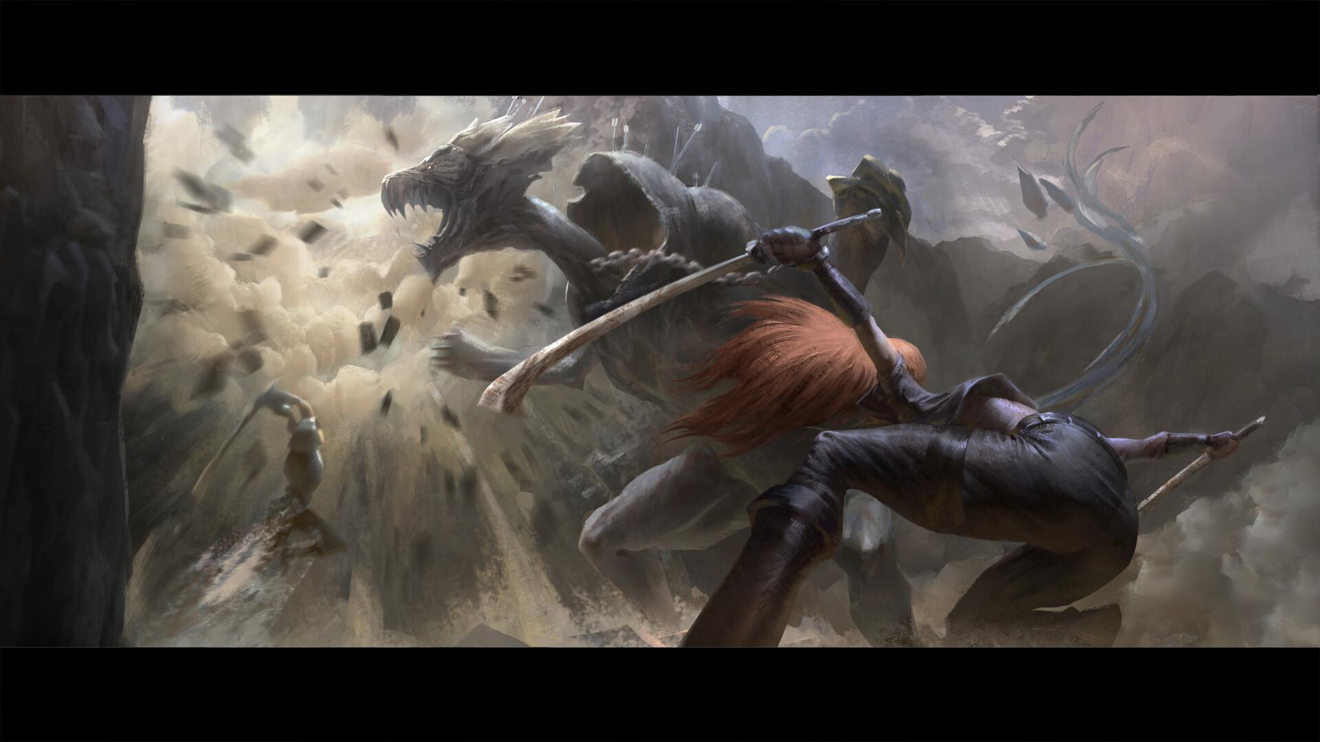 Garen Katarina EnemyofmyEnemy Cinematic concept 33