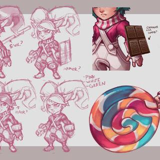 Grafika koncepcyjna aktualizacji Lizakowej Poppy (w wykonaniu Kienan 'Knockwurst' Lafferty)