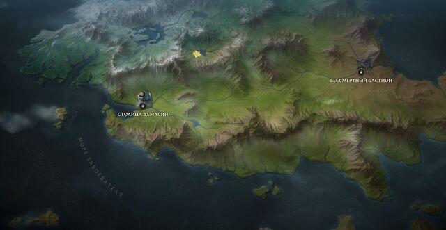 Море Завоевателя на карте Рунтерры