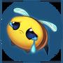 Emotka Smutna Pszczółka