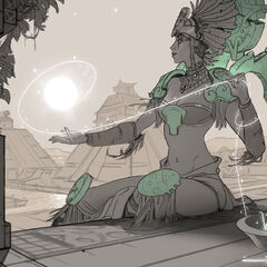 Sun Goddess Karma Update Splash Concept 3 (by Riot Artist <a href=