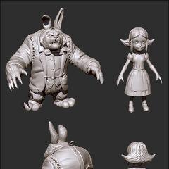 Annie in Wonderland Update Model 1 (by Riot Artist <a href=