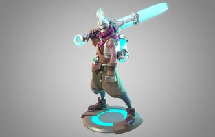 Ekko Statue model 01