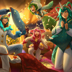 <small>Pajama Guardians Ezreal, Lulu, Lux, Miss Fortune, Soraka</small>