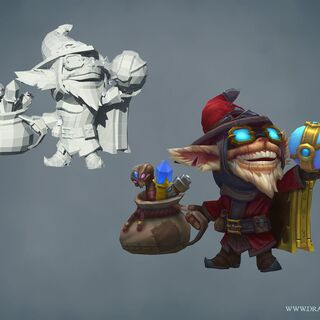 Master Arcanist Ziggs Model (by Riot Artists <a href=