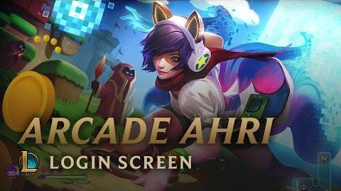 Arcade Ahri (Bit Rush) - ekran logowania