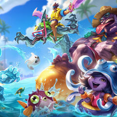 Pool Party Draven, Lulu, Mundo, Rek'Sai and Zac