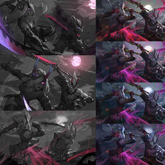 Blood Moon Katarina and Master Yi Splash Concept 1 (by Riot Contracted Artist <a rel=