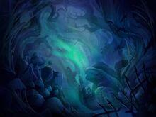 Der gewundene Wald Hintergrund