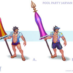 Pool Party Jarvan IV Concept 2 (by Riot Artist <a href=