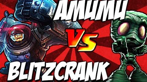 Cist1 Amumu Q vs Blitzcrank Q Ult - Bandage Toss vs Rocket grab