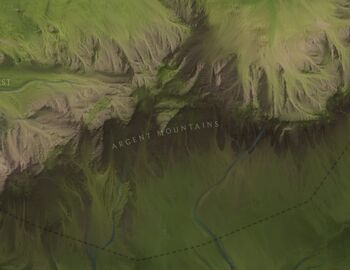 Argent Mountains Map