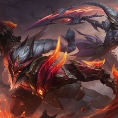 Dragonslayer Diana and Olaf Splash Concept 3 (by Riot Contracted Artist <a rel=