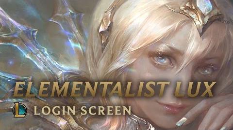 Lux Mistrzyni Żywiołów - ekran logowania