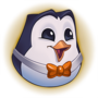 Hype Pengu Orange Emote