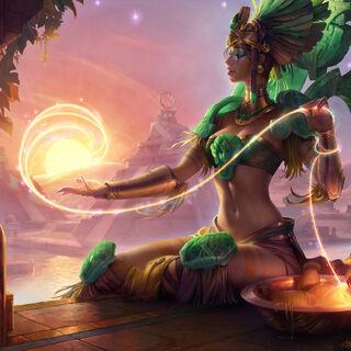 Sun Goddess Karma Update Splash Concept 4 (by Riot Artist <a href=