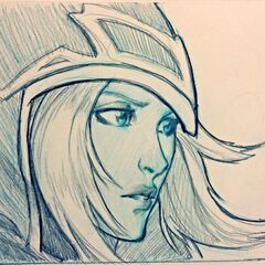 Ashe Sketch (by Riot Artist <a href=