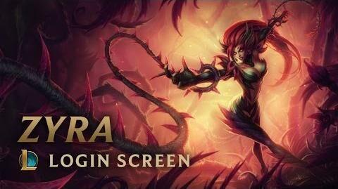 Zyra, die Gebieterin der Dornen - Login Screen