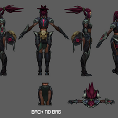 Headhunter Akali Update Model 3 (by Riot Artists <a href=