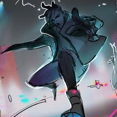 True Damage Ekko Splash Concept 5 (by Riot Artist <a href=