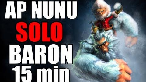 Nunu solo Baron at level 11 15min