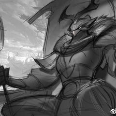 Warring Kingdoms Azir Splash Concept 1 (by Riot Artist <a href=