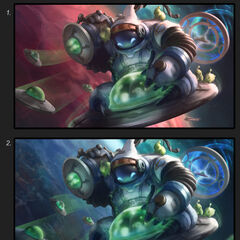 Astronaut Bard Splash Concept 2 (by Riot Contracted Artist <a rel=