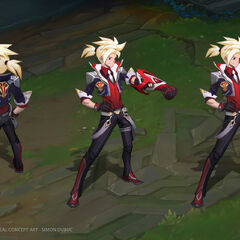 Battle Academia Ezreal Concept 1 (by Riot Artist <a href=
