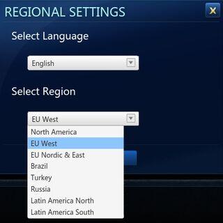 Old Region change menu