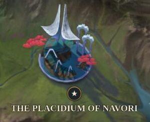 The Placidium of Navori map