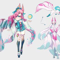 Spirit Blossom Ahri Concept 4 (by Riot Artist <a href=