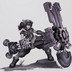 Braum Concept 1 - CeeCee the Hextech Engineer (by Riot Artist <a href=