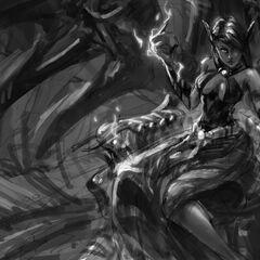 Koncept obrazu Morgany Mistrzyni Ostrzy 1