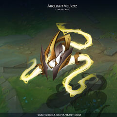 Grafika koncepcyjna Świetlistego Vel'Koza