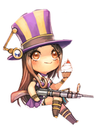 Caitlyn chibi render by mayagenetic-d6cbcag